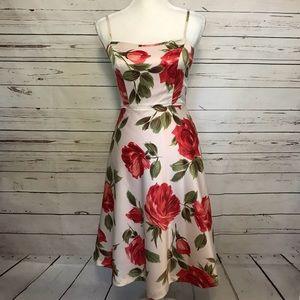 Notice floral dress with adjustable straps